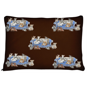 Small Dogs for Peace (dark brown)
