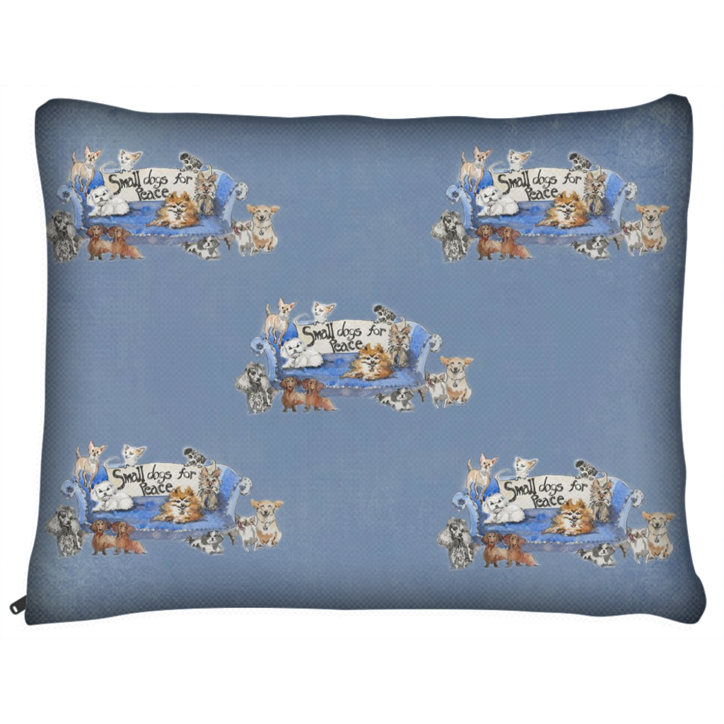 Small Dogs for Peace Dog Bed Light Blue