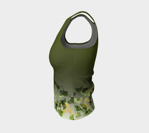 Ginkgo and Gold Fitted Tank (Regular)