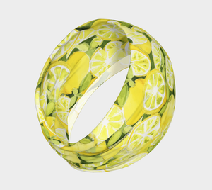 Lemons 4-in-1 Headband/Hairband/Funnel Scarf/Scrunchy