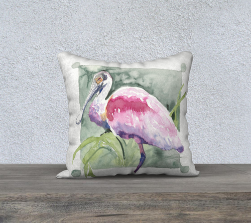 Roseate Spoonbill pillow cover 18