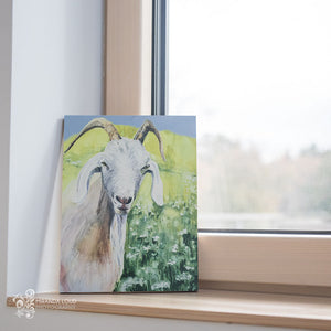 Goat (Jasmine) Wood Print Ready to Hang 11x14
