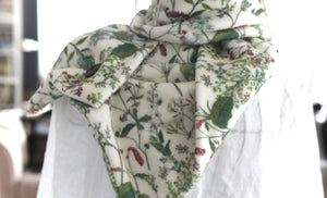 Welsh Flowers Soft Fleece Handmade Scarf