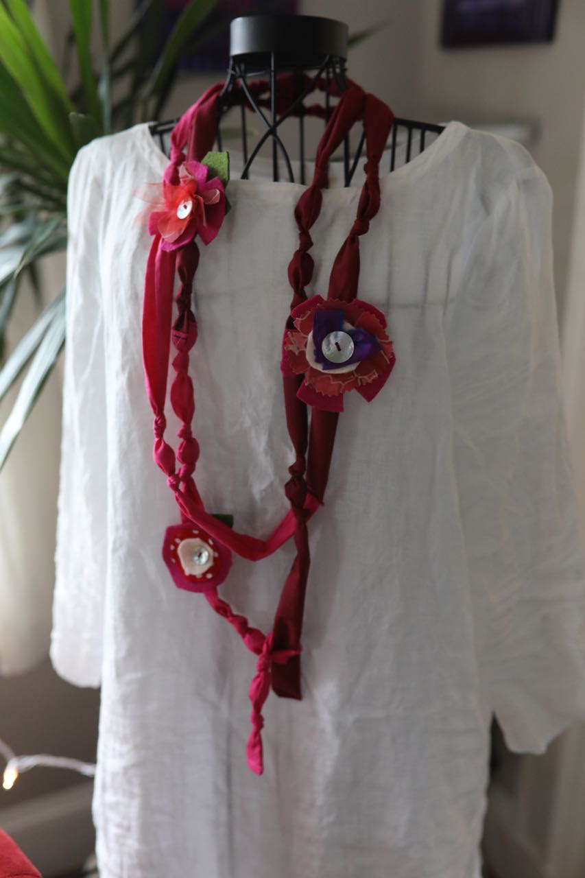 Mixed Media Cotton Necklace/Garland