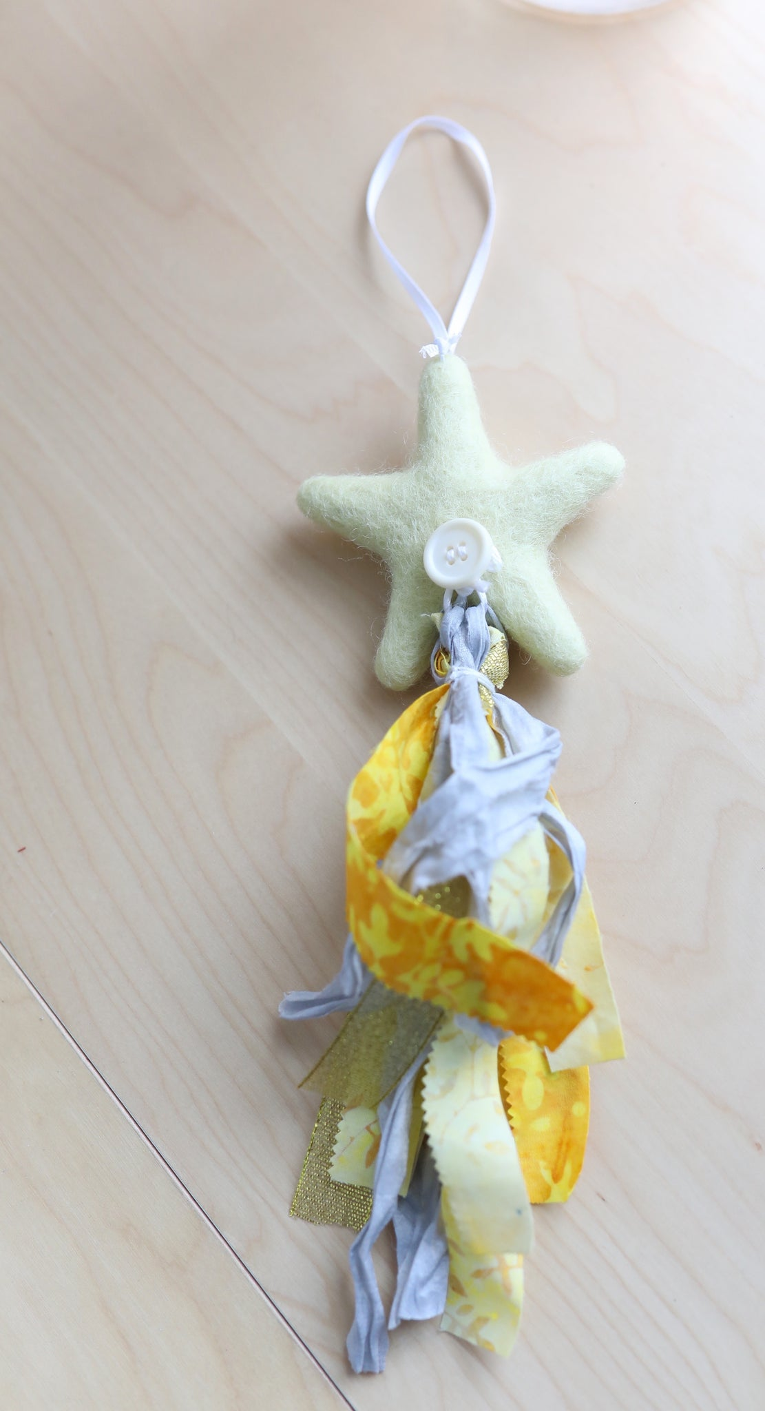 Felt Shooting Star Ornament