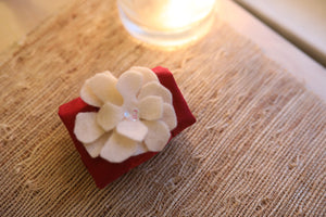 Cuff Bracelet with Optional Felt Flower