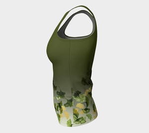 Gingko and Gold Fitted Tank (Long)