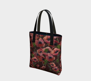 Poppies Elegant Handbag on Rich Caramel