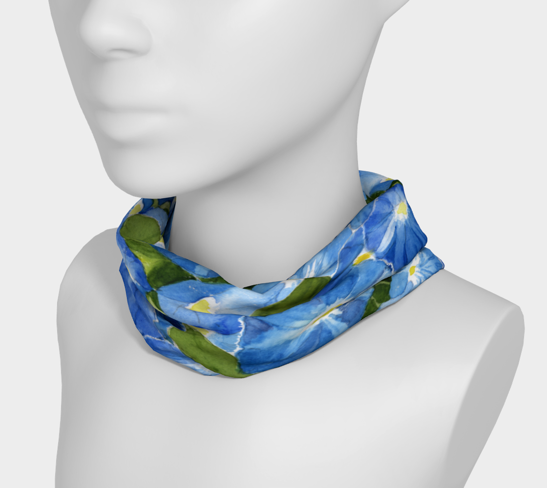 Morning Glory 4 in 1 Headband/Hairband/Funnel Scarf/Scrunchy