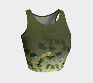 Ginkgo and Gold Crop Top