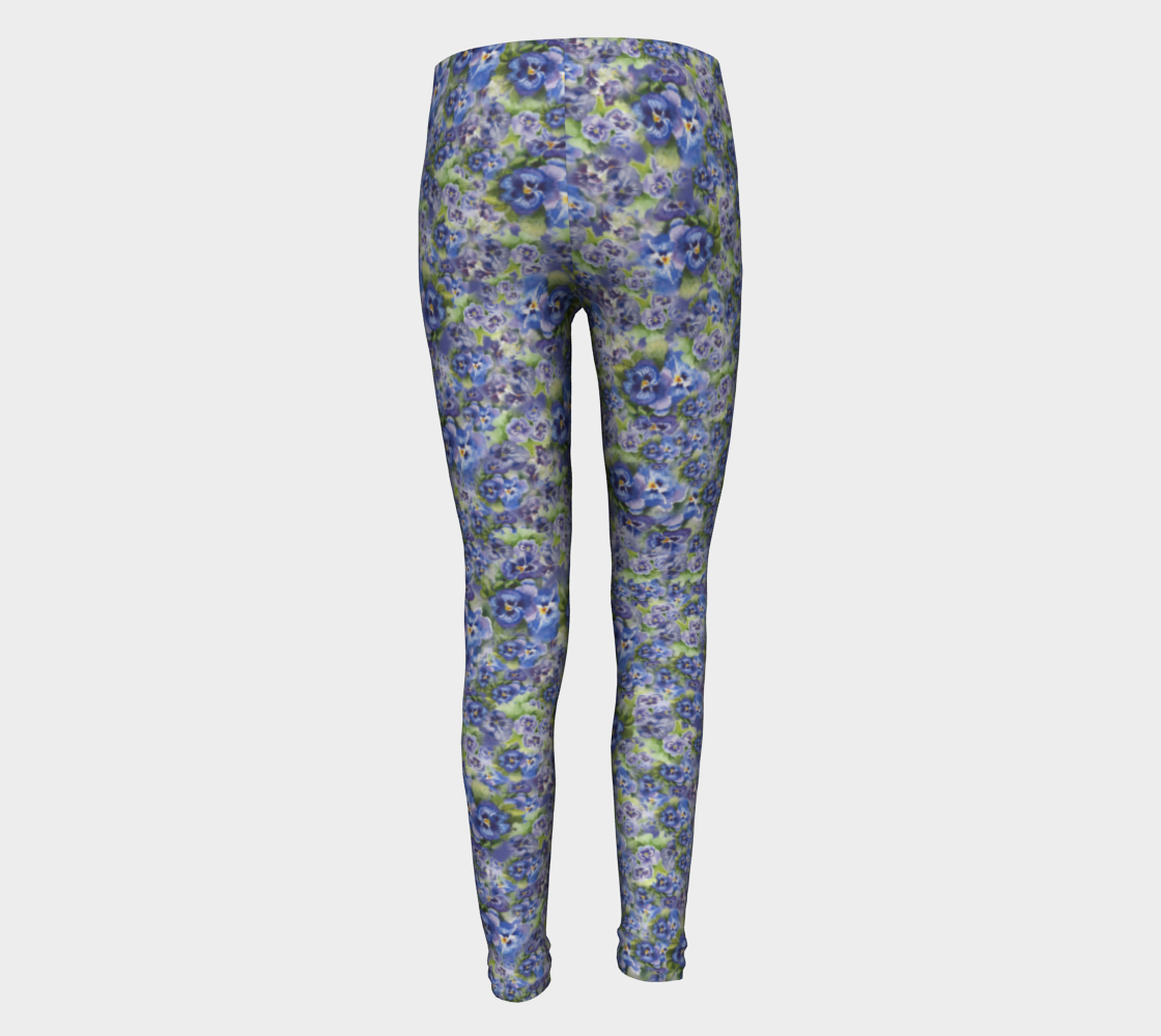 Spring Flowers Kids' Leggings (ages 4-12)