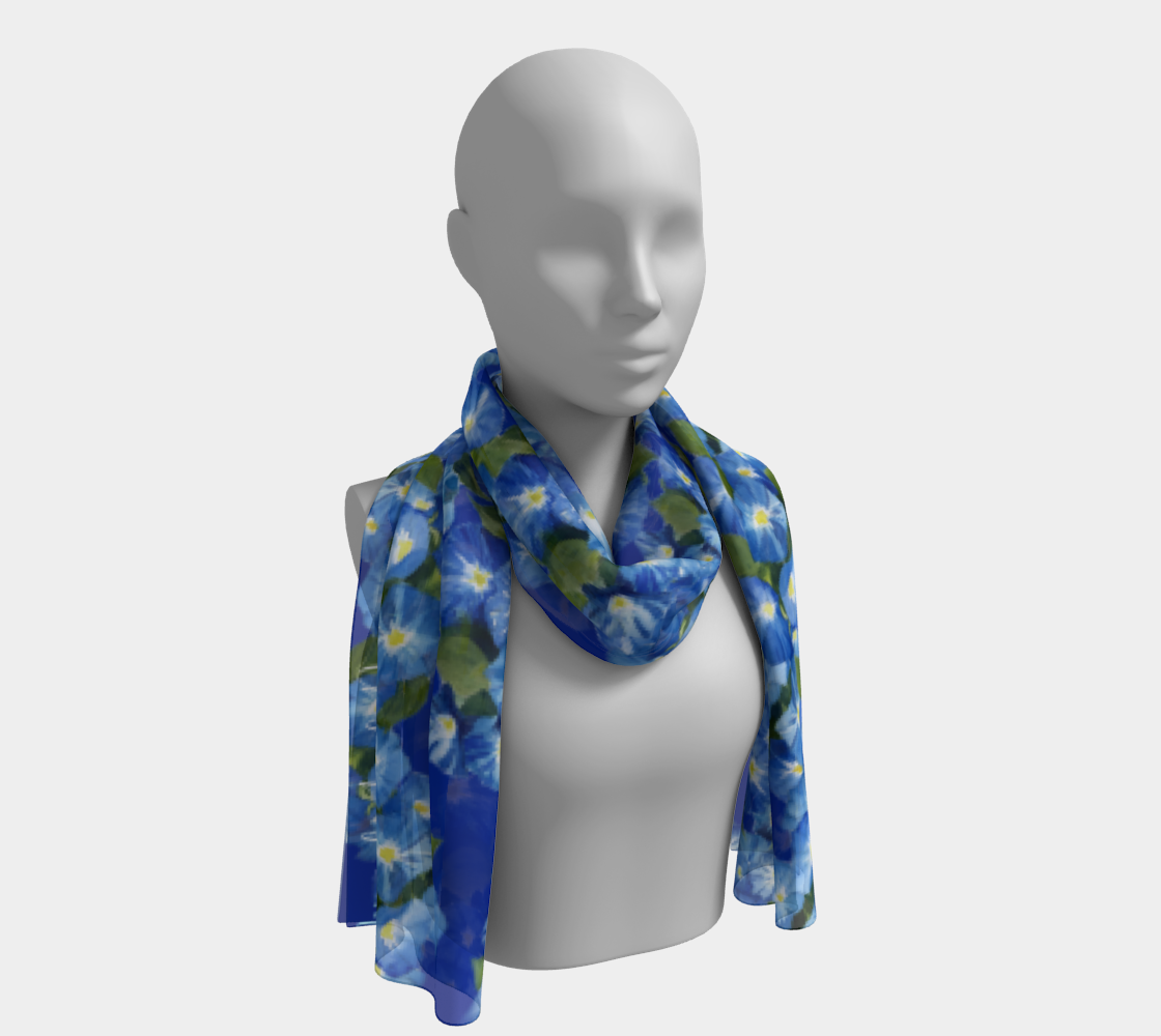 Morning Glory Long Scarf