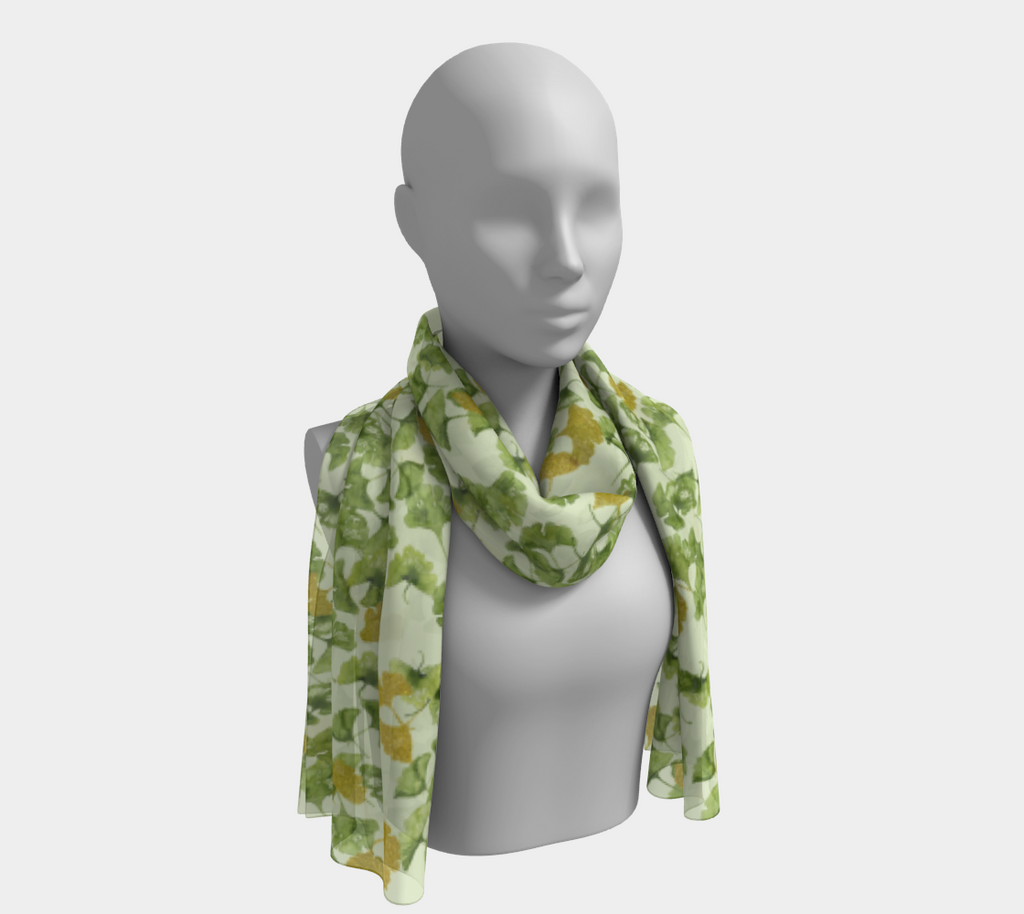 Ginkgo and Gold Long Scarf