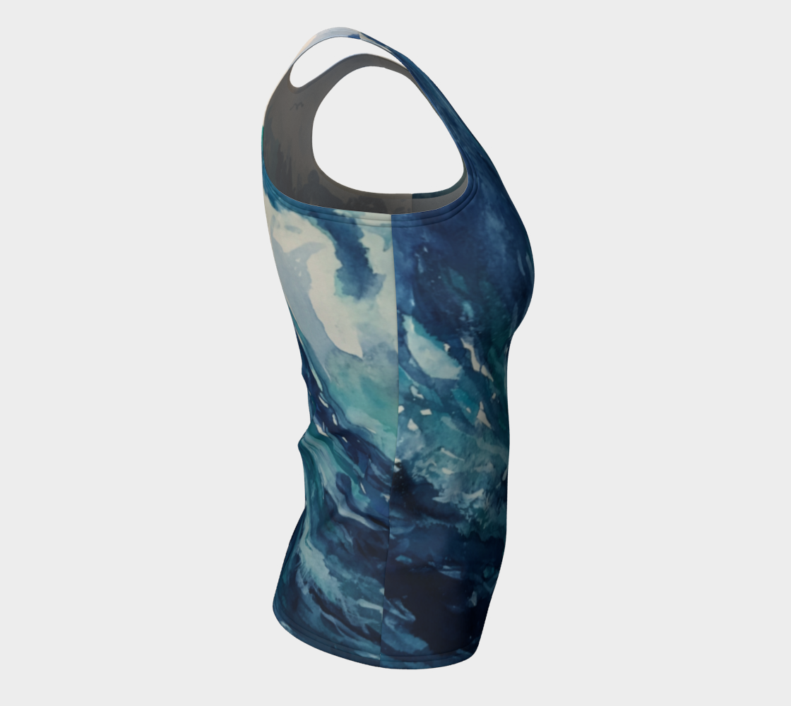 Ocean Wave Fitted Tank (Long)