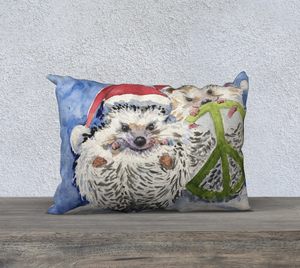 Hedgehogs for Peace Pillow Cover