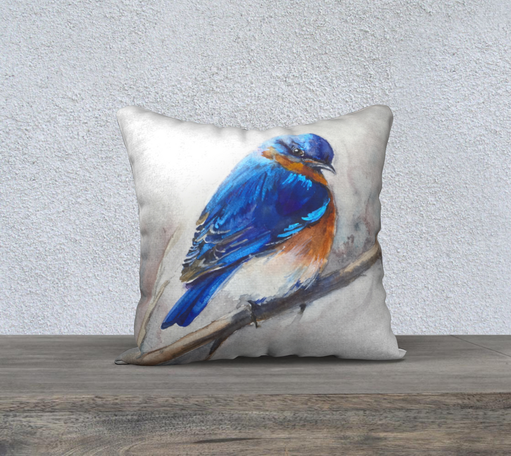 Bluebird 18x18 Pillow Cover