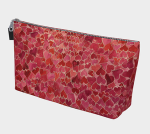 Field of Hearts Cosmetics Bag/Clutch