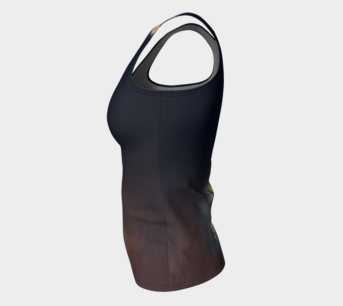 Milo Burnished Black Fitted Tank (Long)