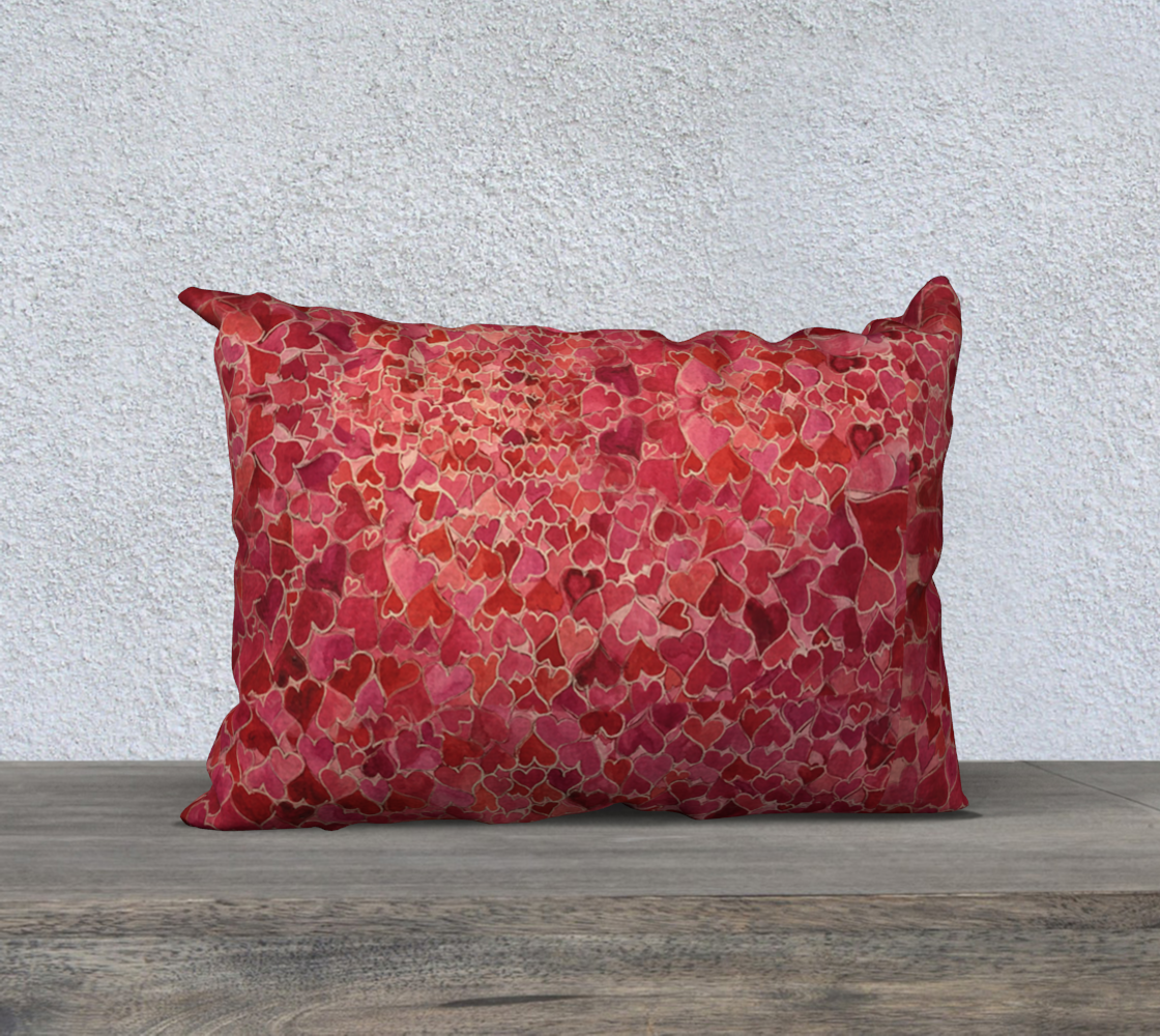 Tap into Love Heart Pillow 20x14
