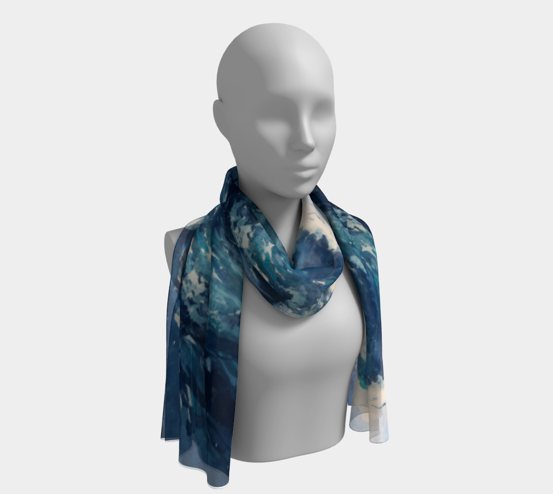 Ocean Wave Long Scarf