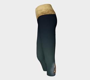 Milo the Rabbit Yoga Capris (gold band)