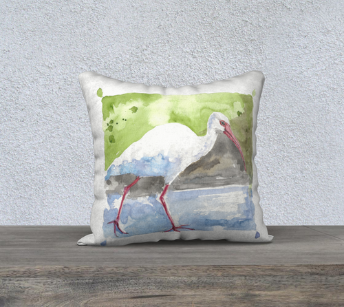 White Ibis pillow cover 18
