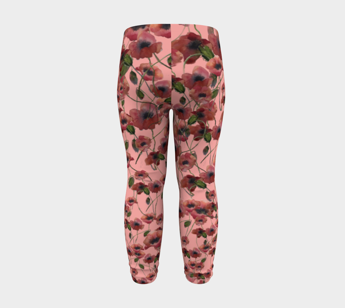 Poppies and Pink Baby Leggings 6 months - 3 years