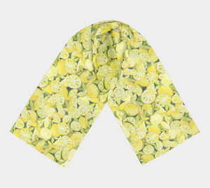 Lemons to Lemonade Pure Habotai Silk Scarf in Two Lengths