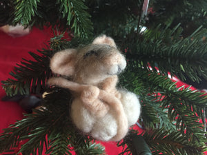 Sleepy Handfelted Mouse