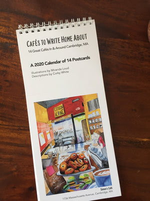 2020 Postcard Calendar: Cafés to Write Home About - 14 Great Cafés in and Around Cambridge, MA