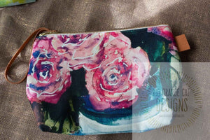 Roses Cosmetics Bag/Clutch