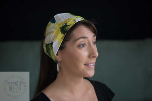 Daffodils 4 in 1 Headband/Hairband/Funnel Scarf/Scrunchy