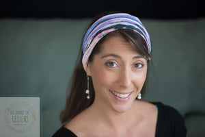 Moonrise Over the Cove 4 in 1 Headband/Hairband/Funnel Scarf/Scrunchy