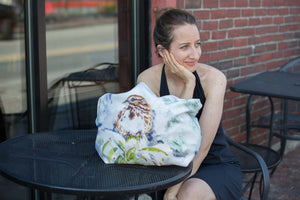 Song Sparrow Soft Stretchy Neoprene Tote