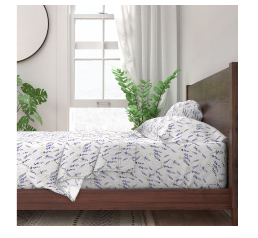 Fresh Lavender Sateen Sheet Set