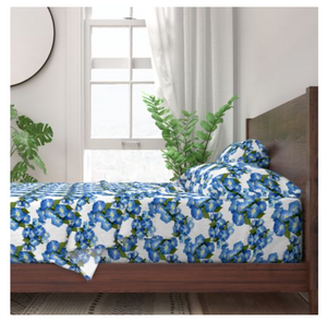 Morning Glories Sateen Sheet Set