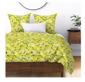 Watercolor Lemons Duvet