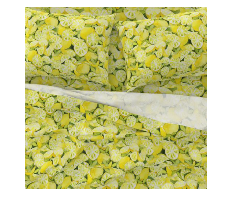 Lemons Sateen Sheet Set