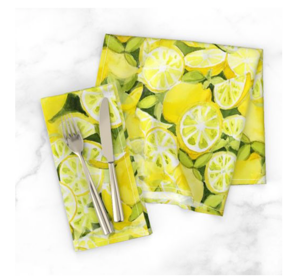 Lemons to Lemonade Napkins