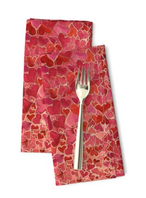 Hearts and Valentines Napkins