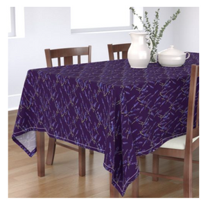 Rectangular Tablecloth Fresh Lavender Deep Violet