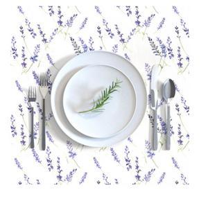Rectangular Tablecloth Fresh Lavender
