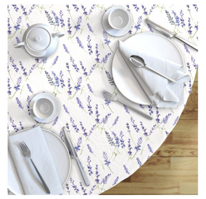 Round Tablecloth Fresh Lavender