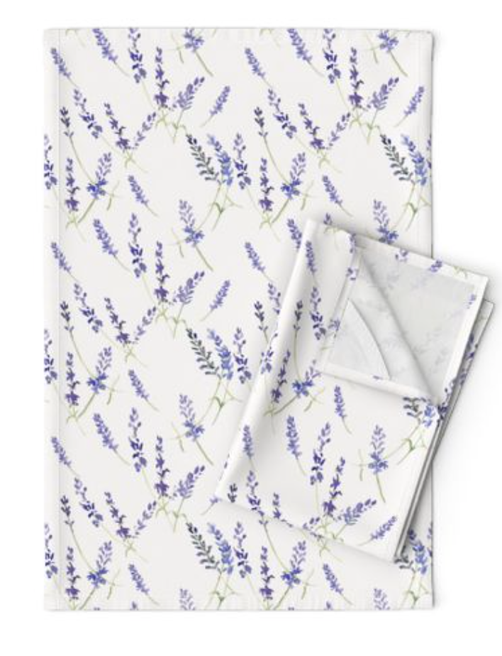 Fresh Lavender Tea Towel
