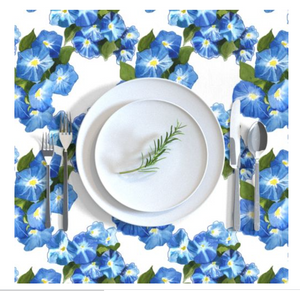 Rectangular Tablecloth Morning Glories