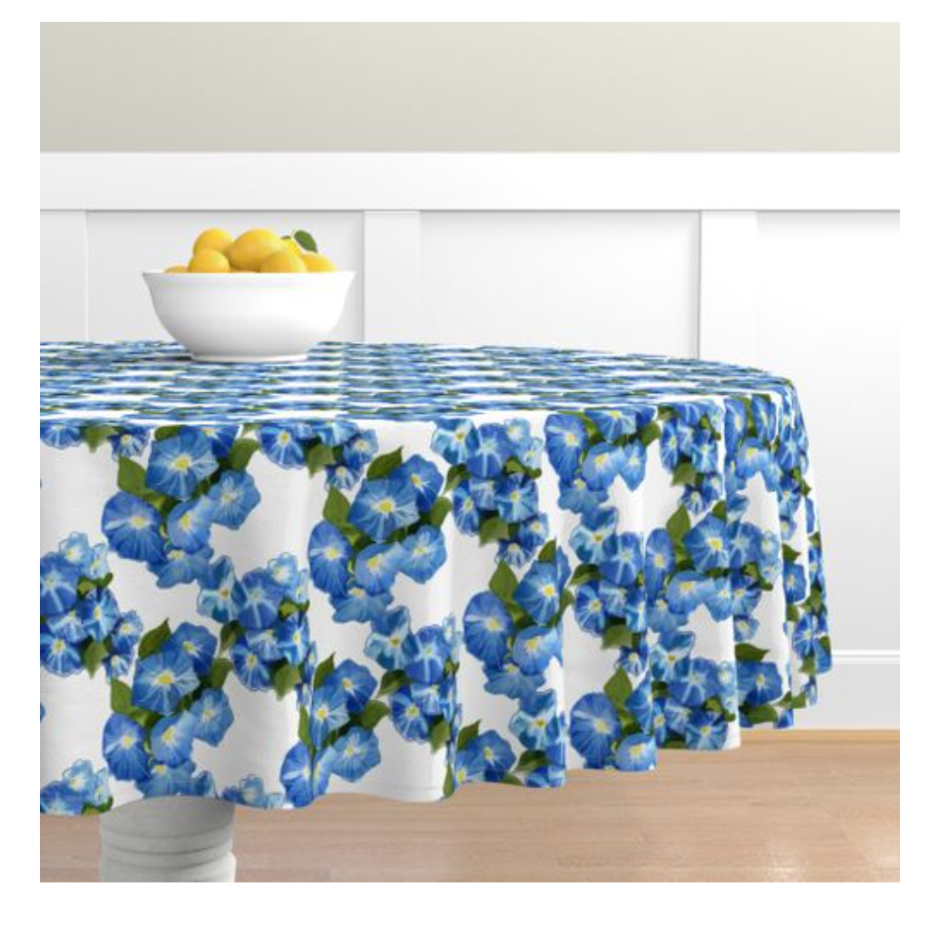 Round Tablecloth Morning Glories