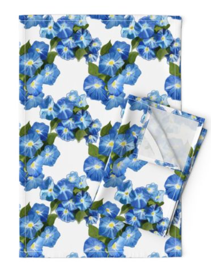 Morning Glories Tea Towel