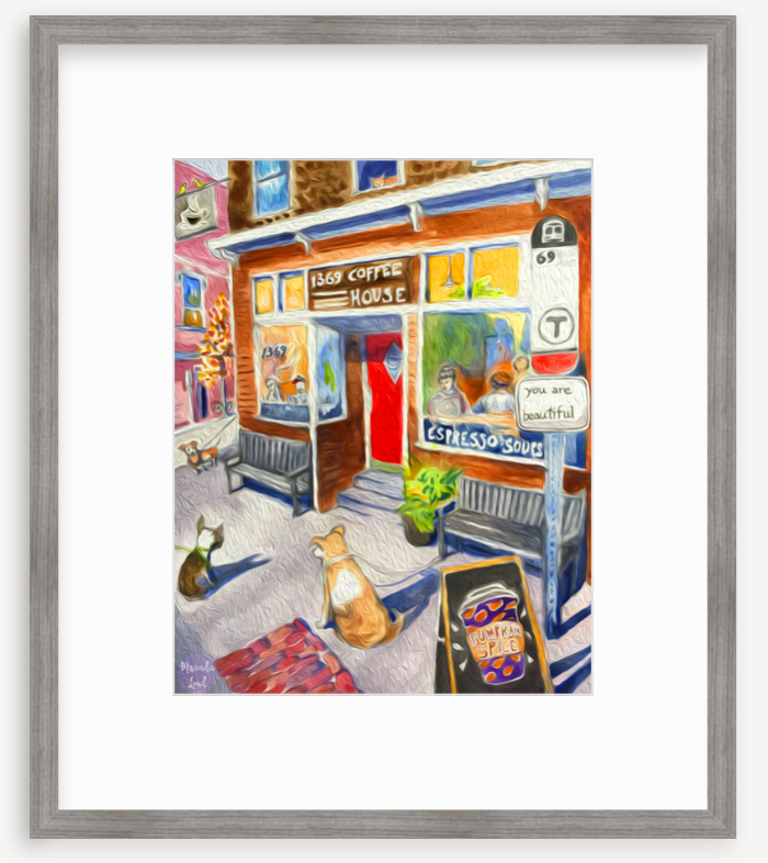 Framed Print: 1369 Coffee House, Inman Square, Cambridge, MA