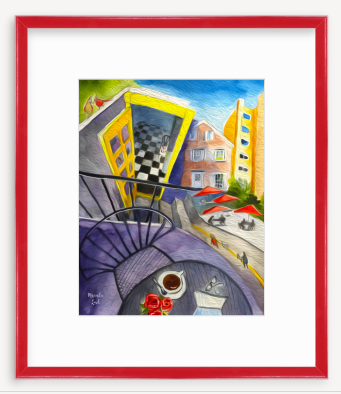 Framed Print: Café Pamplona, Harvard Square