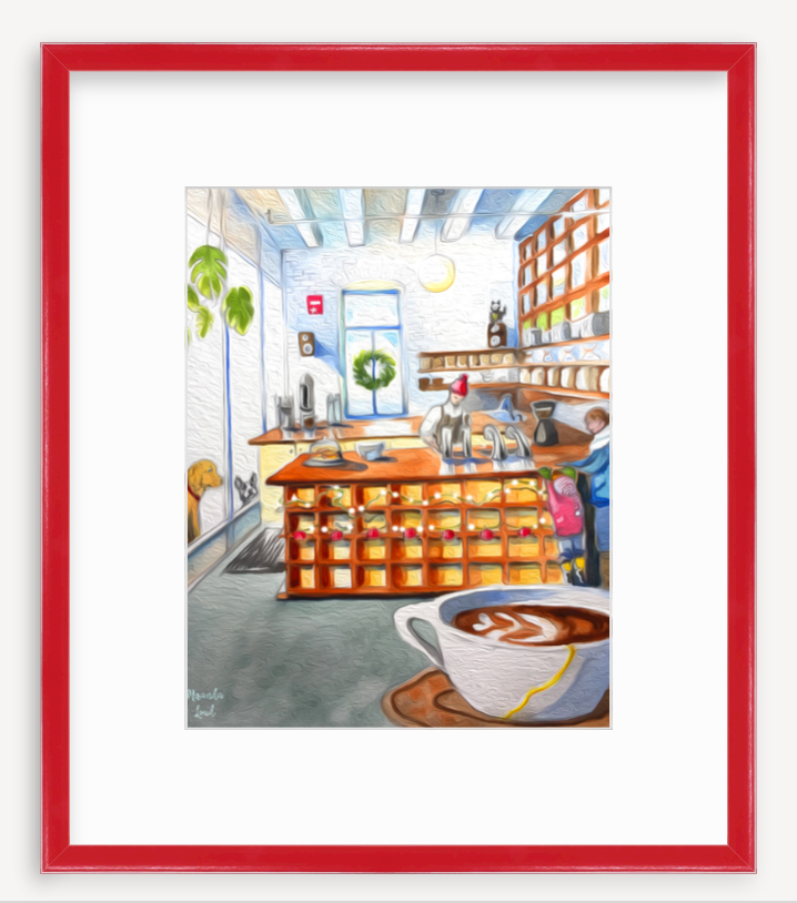 Framed Print: Gracenote Coffee, Boston, MA